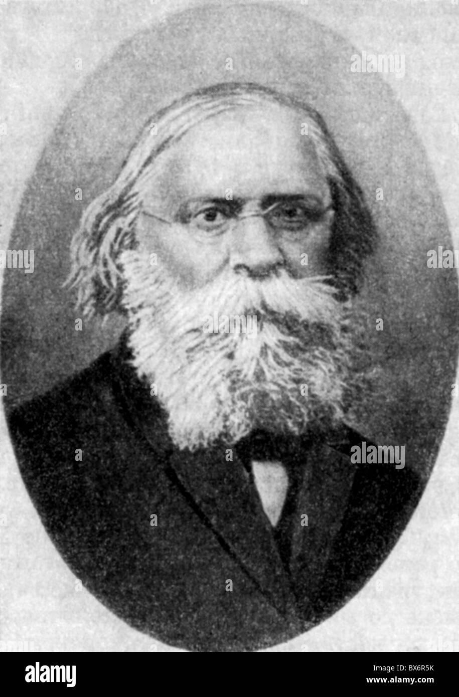 Lavrov, Pyotr Lavrovich, 14.6.1823 - 6.2.1900, Russian poet, publicist, sociologist, portrait, late 19th century, - Stock Image