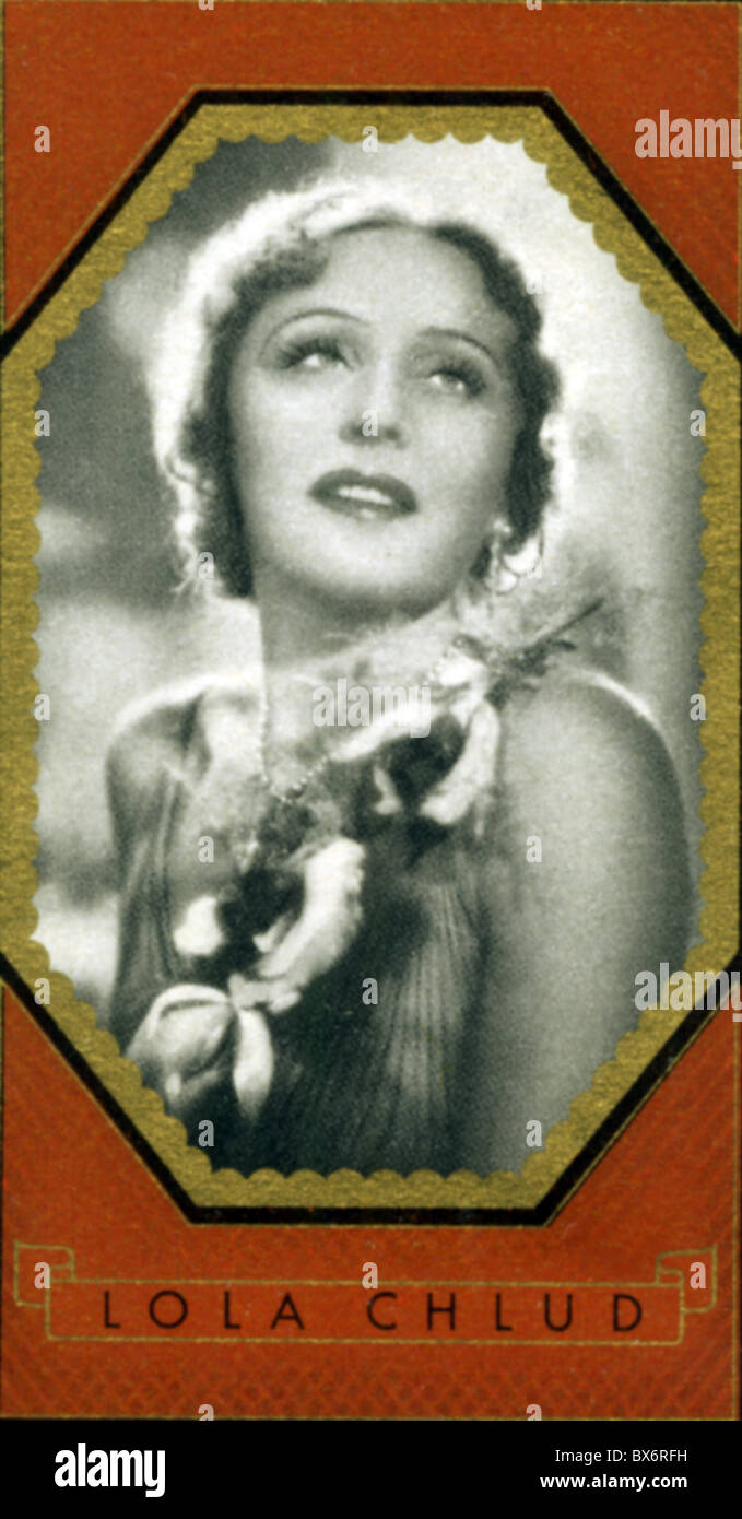 Chlud, Lola, * 13.7.1905, German actress, portrait, cigarette card, Additional-Rights-Clearances-NA - Stock Image