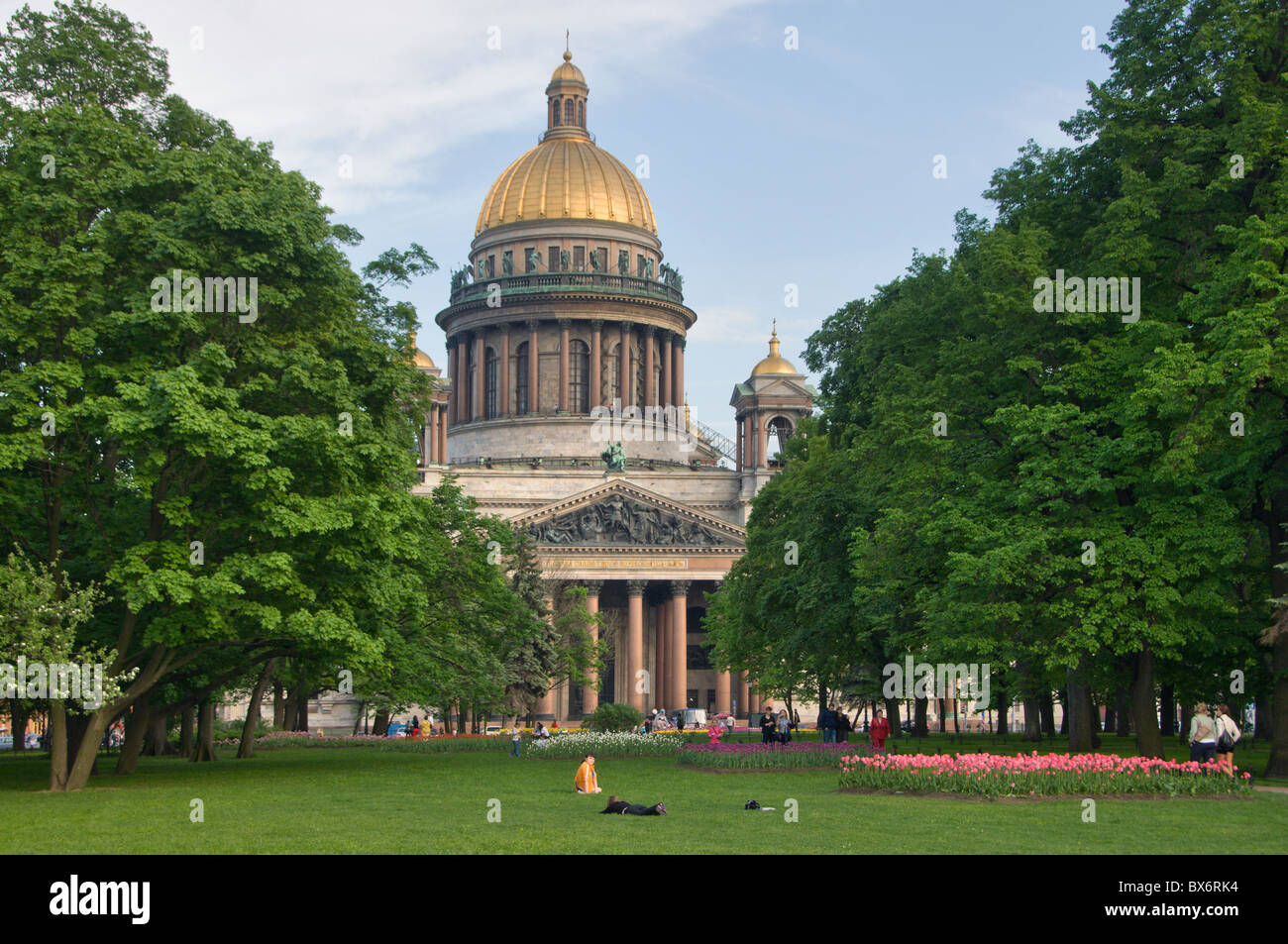 St Petersburg St Isaac Cathedral Russia Stock Photo