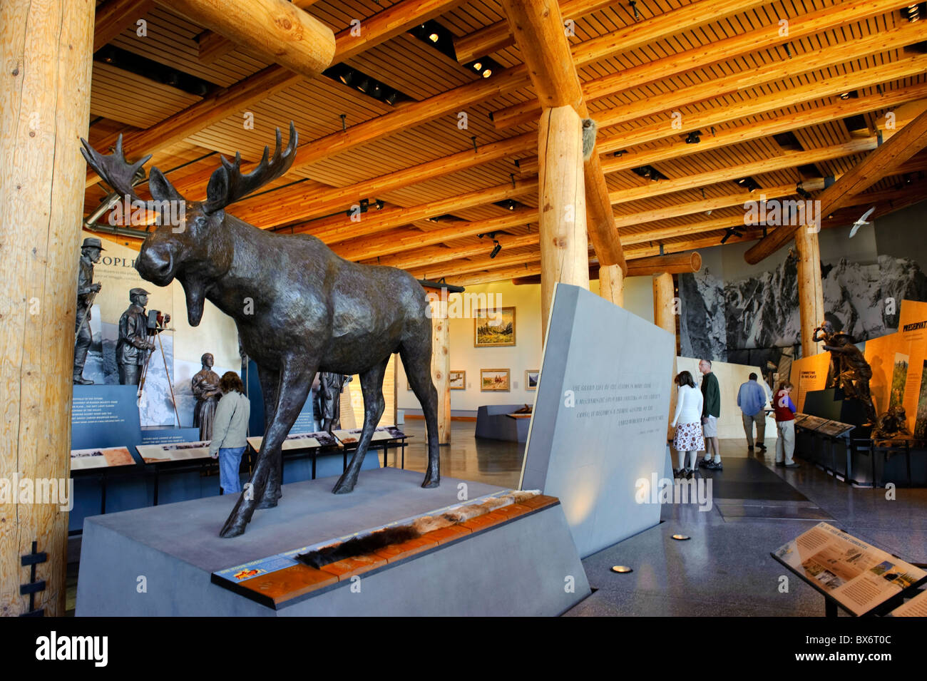 New Visitor Center, Grand Teton National Park, Wyoming, USA Stock Photo