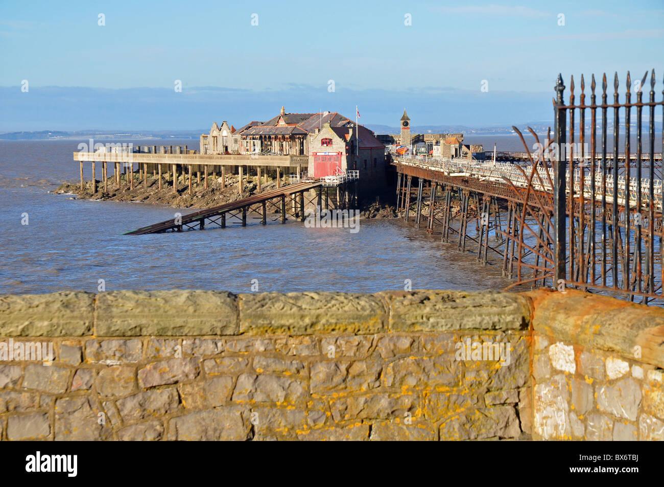 Weston super Mare, Somerset, England: Birnbeck pier - Stock Image
