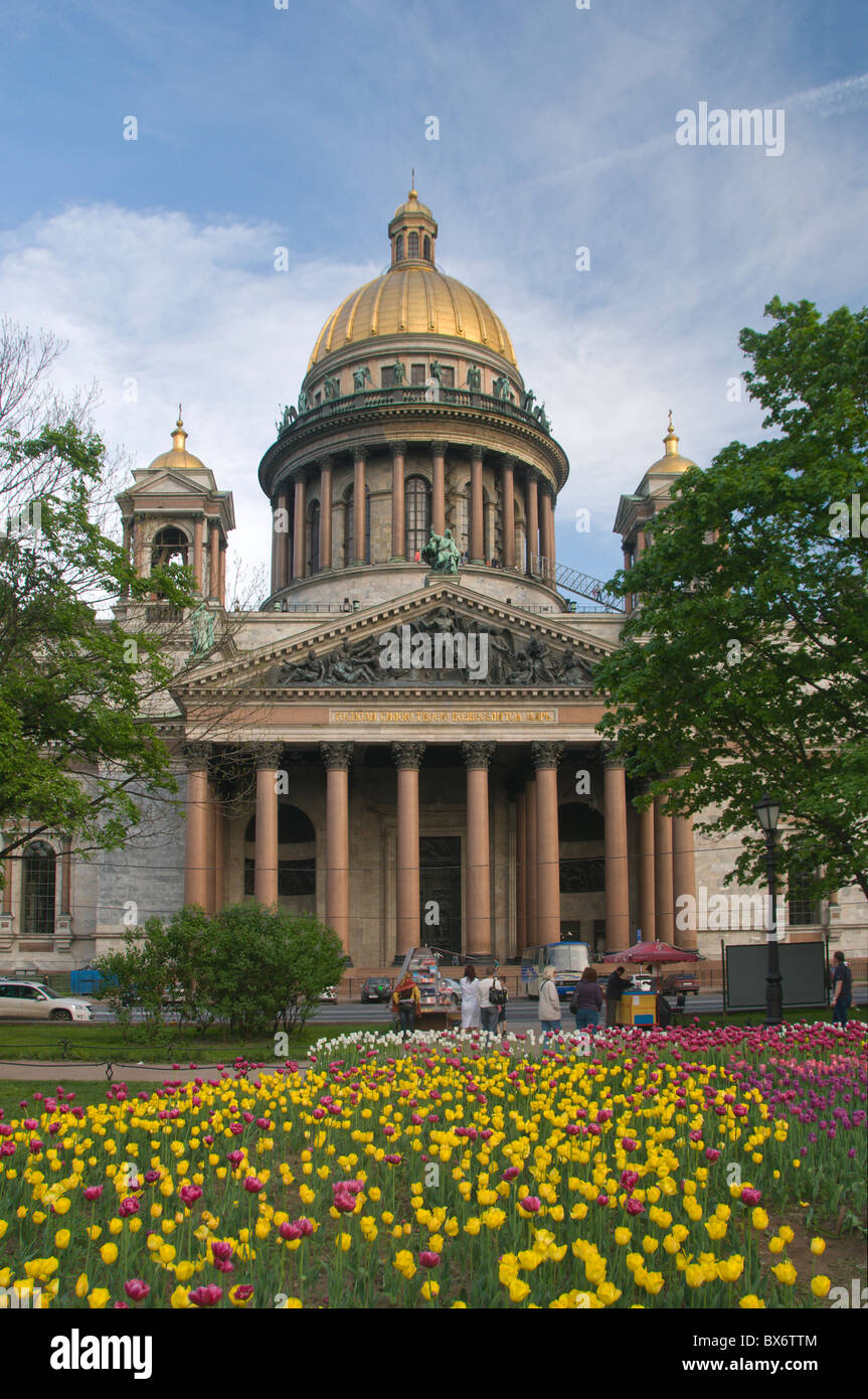 St Isaac Cathedral St Petersburg Russia - Stock Image