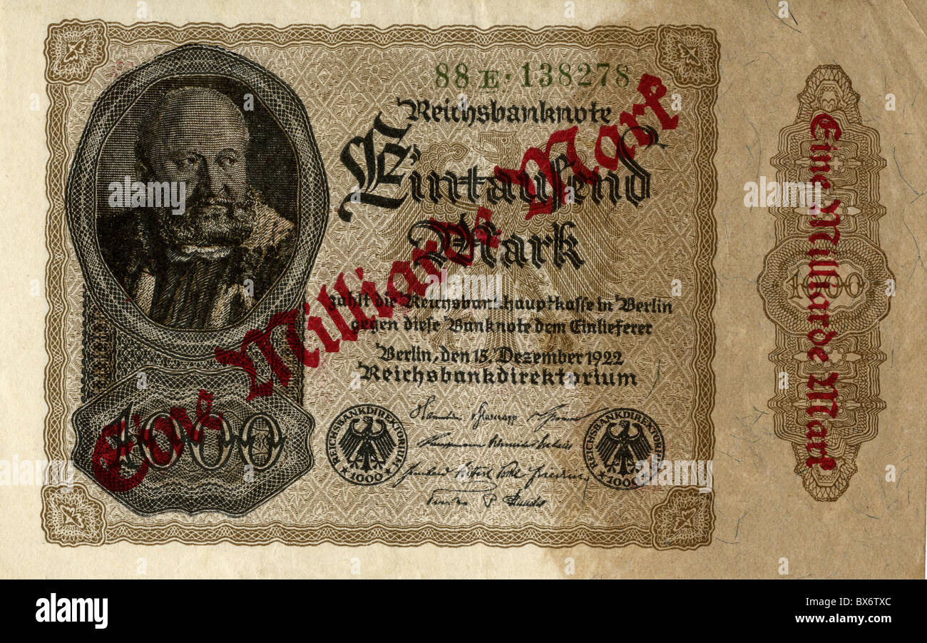GERMANY REICHSBANKNOTE 1 BILLION MARK BERLIN 1922//sold as each