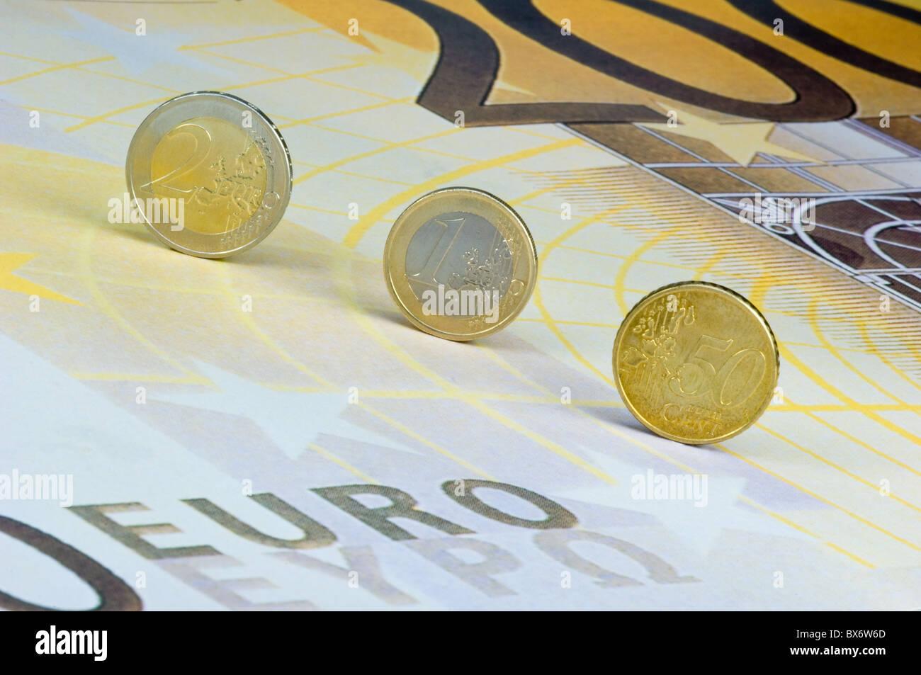 European Hardcash - Stock Image