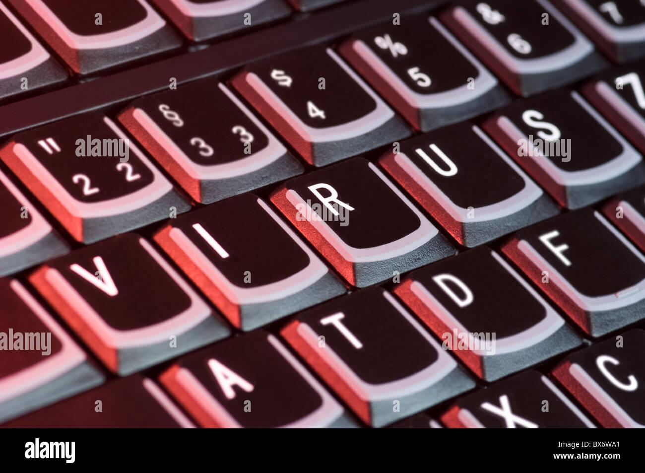 Symbol photo for computer viruses - Stock Image