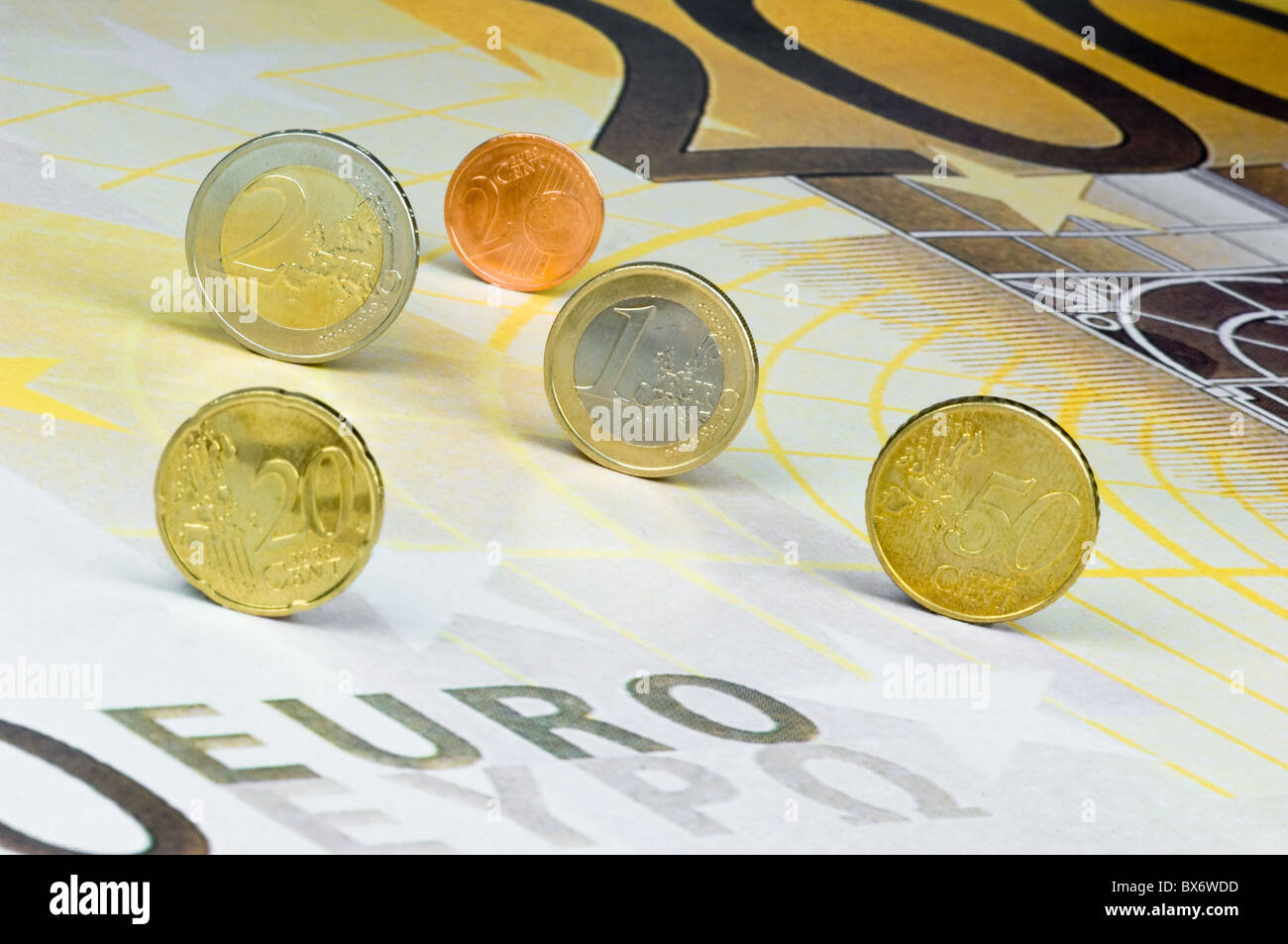 European Hardcash Stock Photo