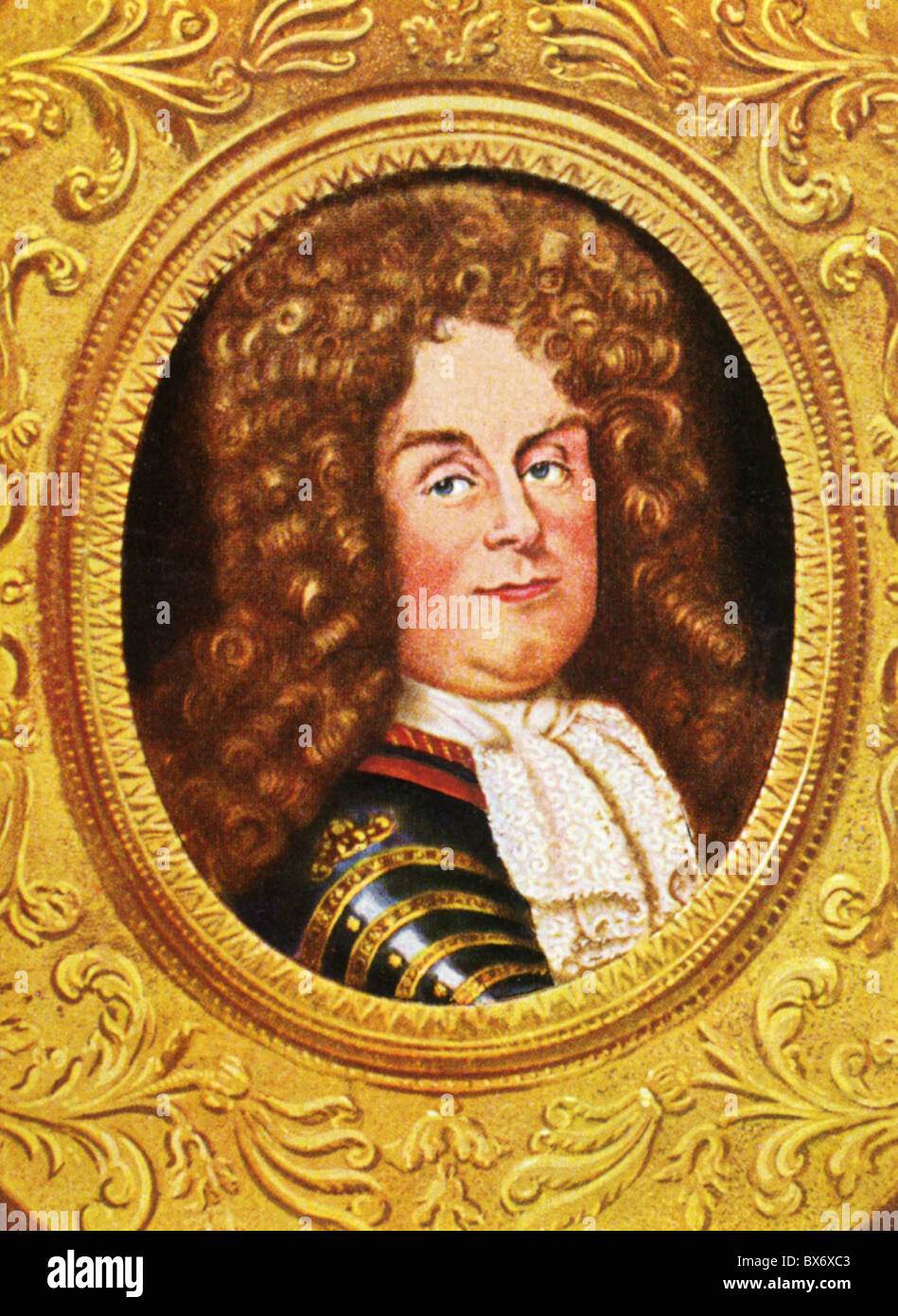 Philip II, 4.8.1674 - 2.12.1723, Duke of Orleans, Regent of France 1715 -  1723, portrait, print after miniature, 18th century, cigarette card,  Germany, ...