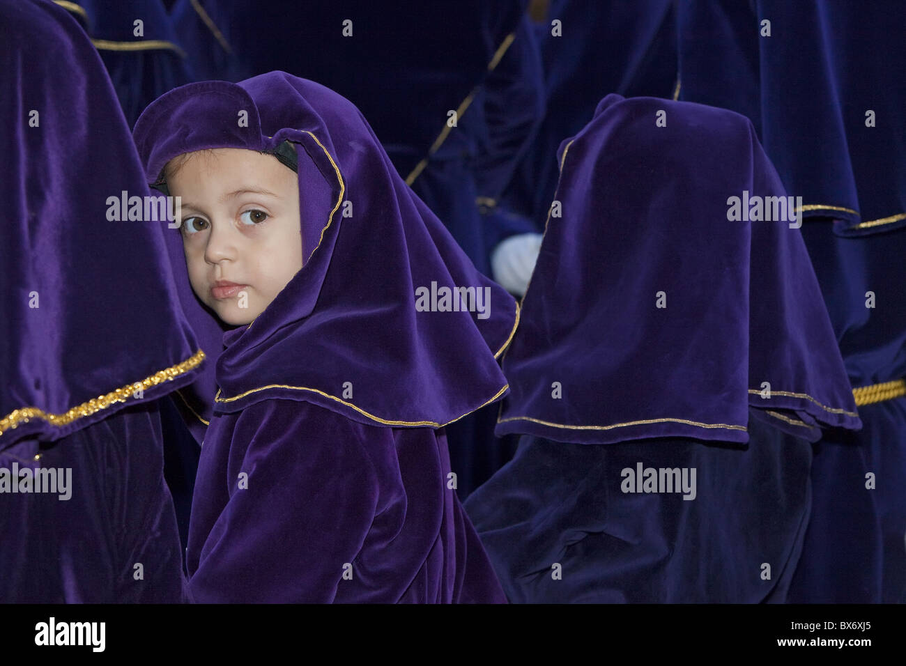 Semana Santa (Holy Week) celebrations, Malaga, Andalucia, Spain, Europe - Stock Image