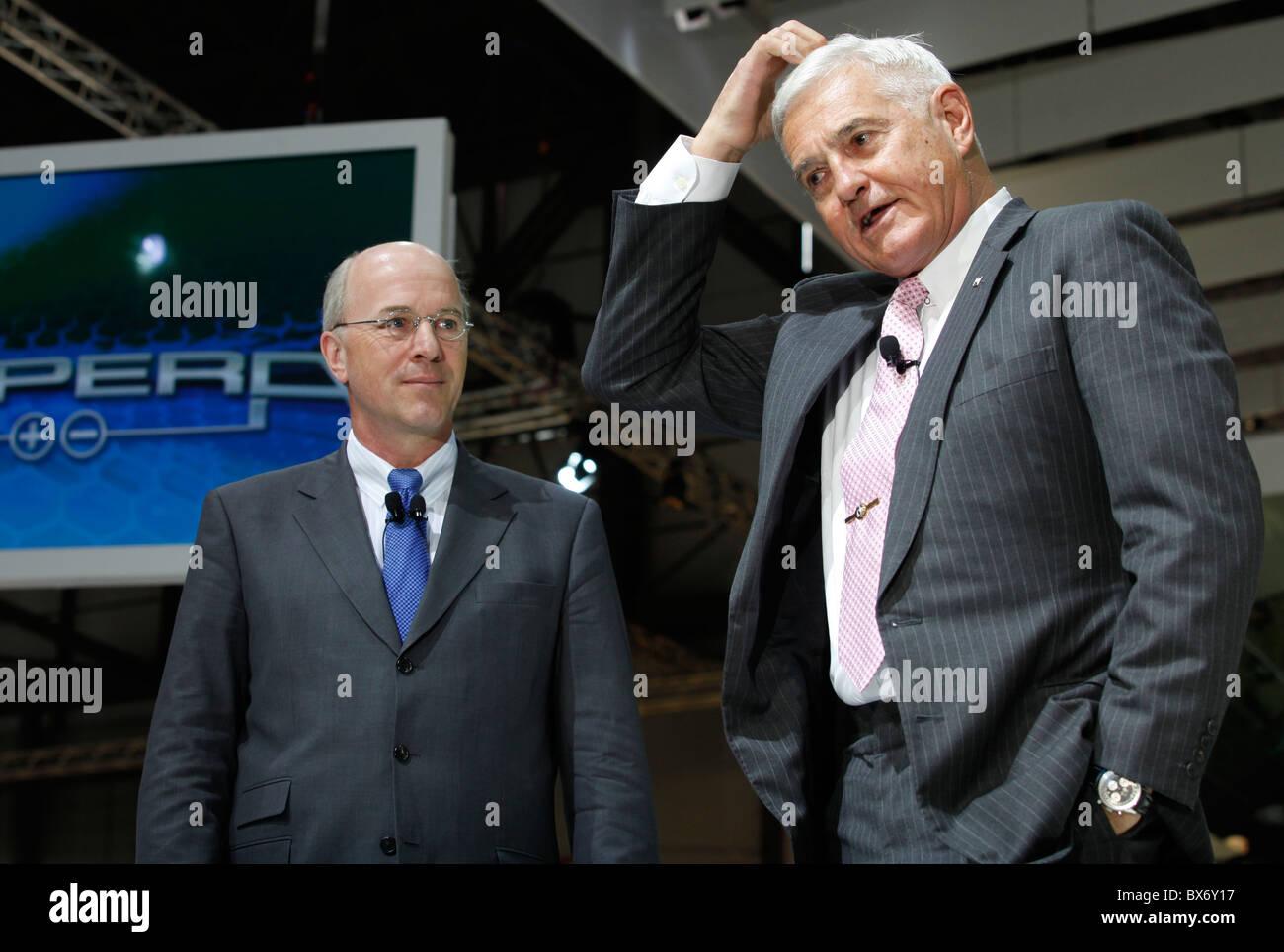 Carl-Peter Faster, Bob Lutz, GM, General Motors - Stock Image