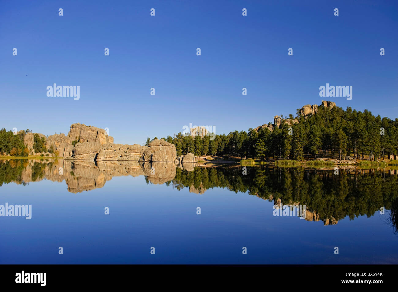 Sylvan Lake, Black Hills National Forest, Custer State Park, South Dakota - Stock Image