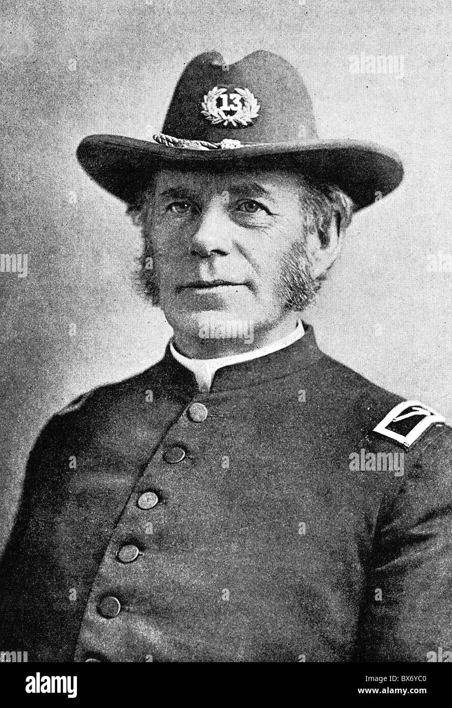 Talmage, Thomas De Witt, 7.1.1832 - 12.4.1902, US preacher, portrait, in uniform, late 19th century, Additional - Stock Image
