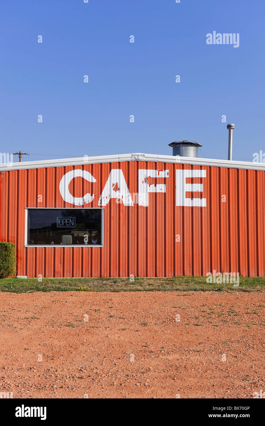 Cafe', Highway 85, North Dakota, USA - Stock Image