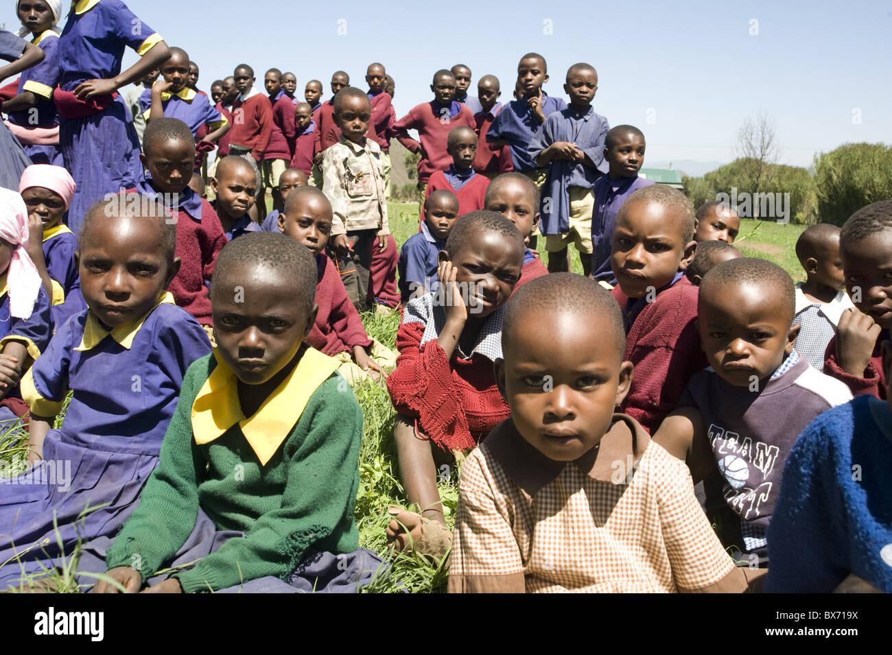 Schoolchildren, Ndogo Primary school, Gilgil district, Rift Valley, Kenya, East Africa, Africa Stock Photo