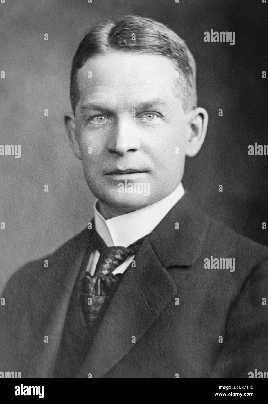 Portrait photo c1920s of English chemist Frederick Soddy (1877 - 1956) - winner of the Nobel Prize for Chemistry - Stock Image