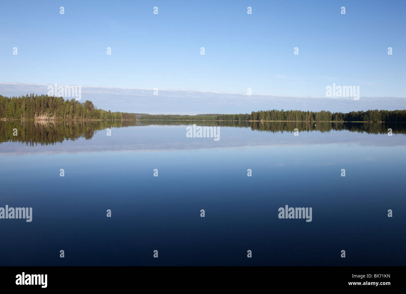 View of Lake Ahveninen Finland - Stock Image
