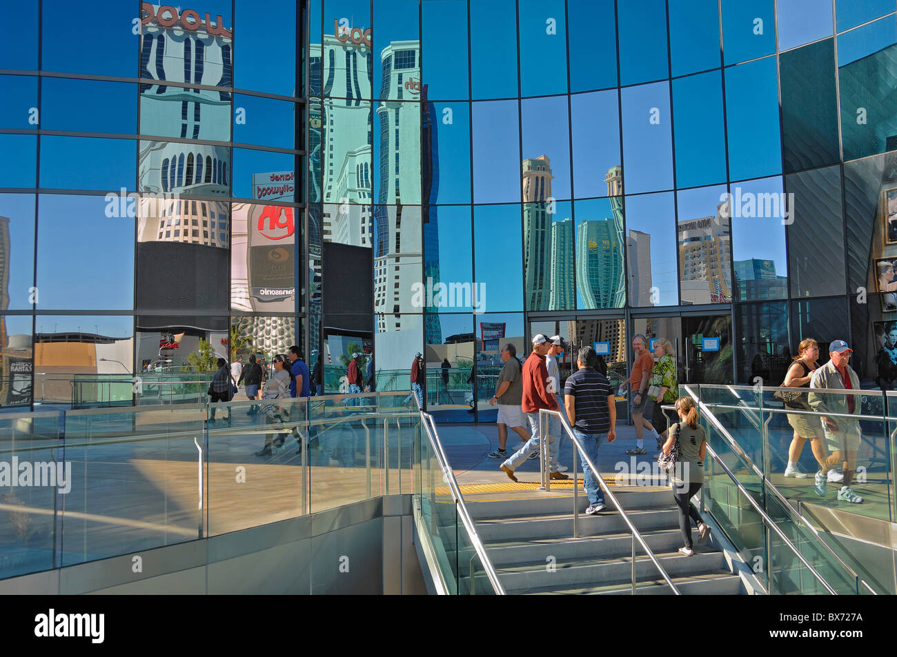 Shoppers at the Shopping Area of City Center in Las Vegas, Nevada, United States of America - Stock Image