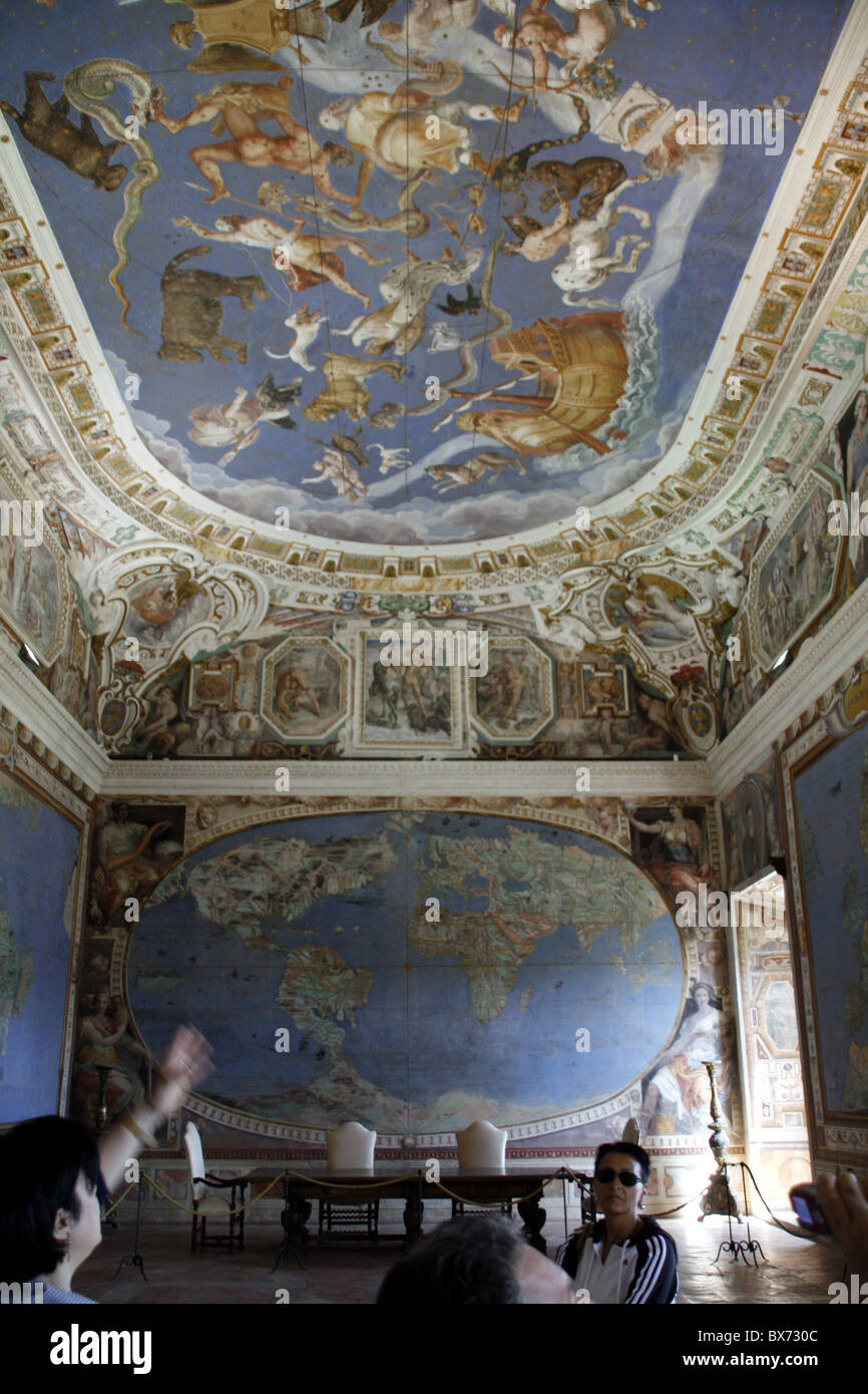 inside palazzo farnese at caprarola, italy - Stock Image