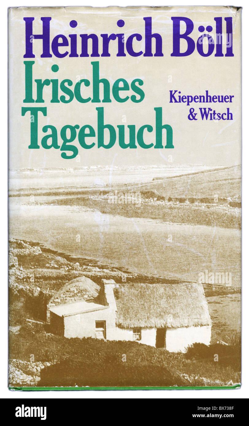 books, Heinrich Boell: 'Irish Journal' ('Irisches Tagebuch'), published by Kiepenhauer und Witsch, - Stock Image