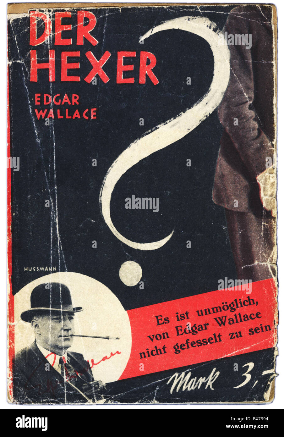 books, Edgar Wallace: 'The Ringer' (1926), German edition, published by Verlag Wilhelm Goldmann, Leipzig, - Stock Image