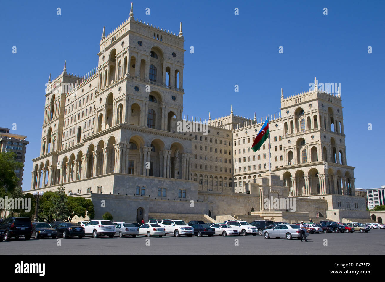 Government House, Dom Soviet, Baku, Azerbaijan, Central Asia, Asia - Stock Image