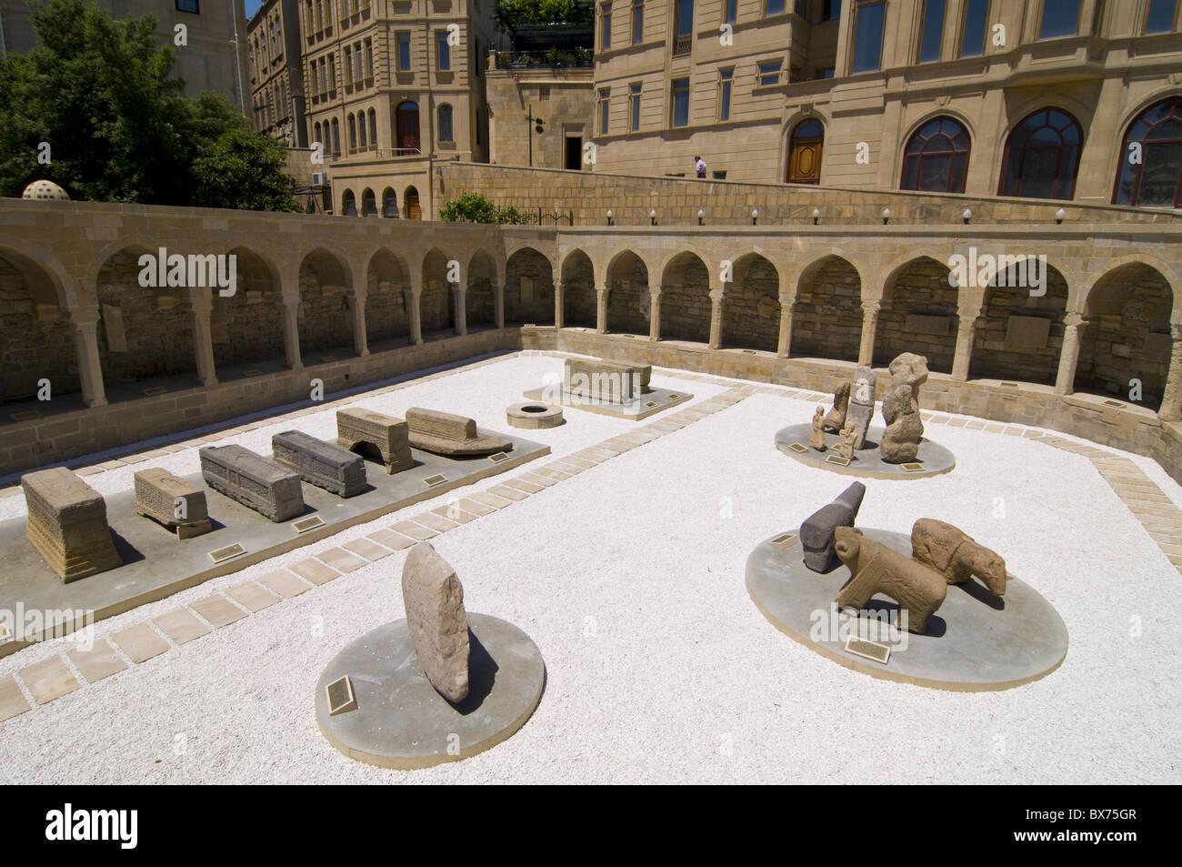 Excavations near the Maiden Tower, Baku, Azerbaijan, Central Asia, Asia - Stock Image
