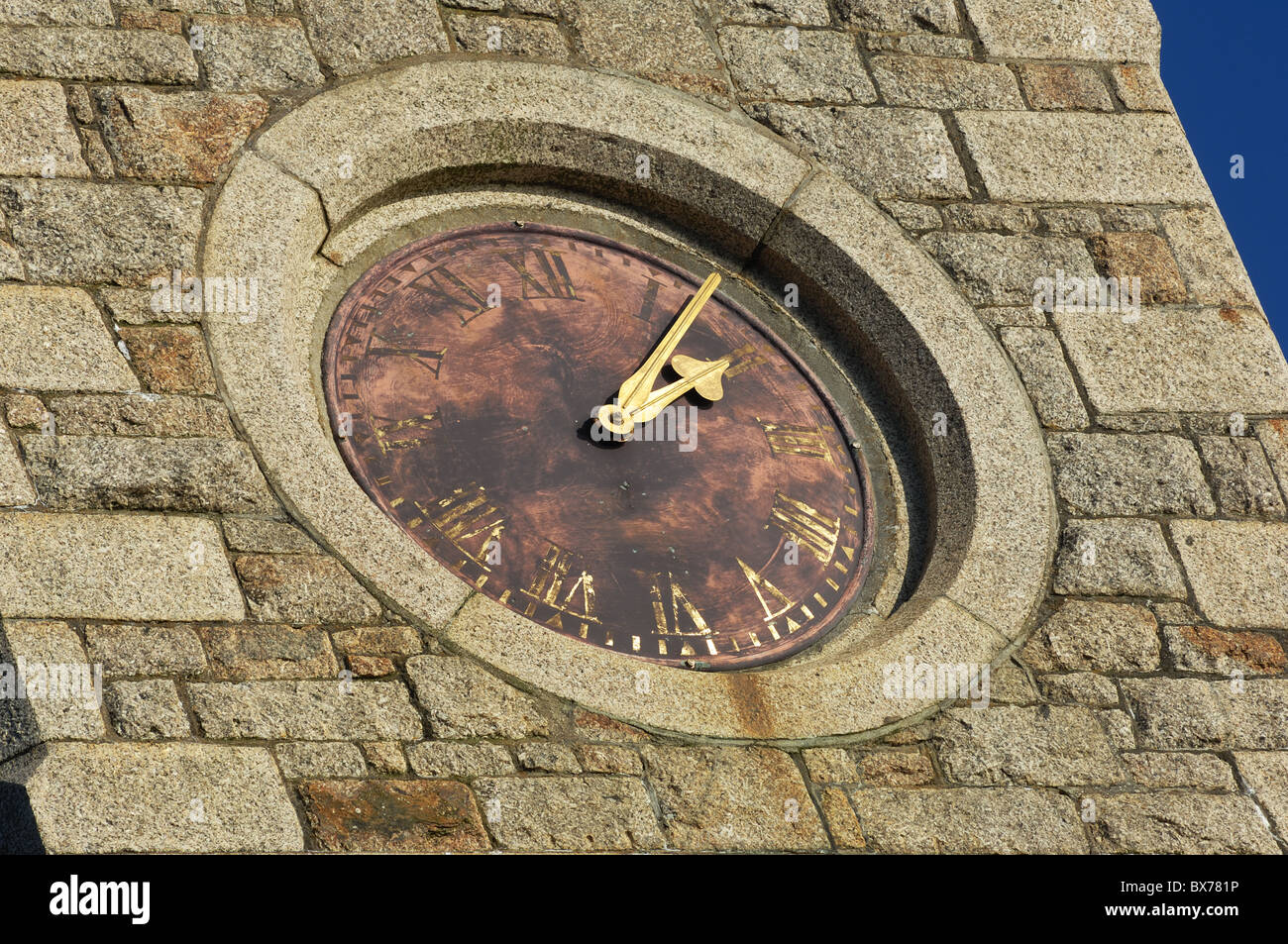 Old Clock Face - John Gollop - Stock Image