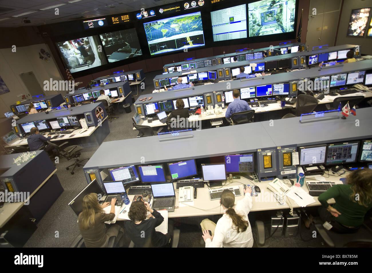 NASA Mission Control, Houston, Texas, United States of America, North America - Stock Image