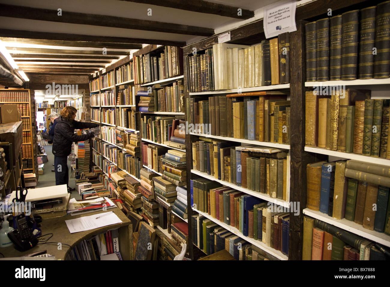 Bookshop in Hay-on-Wye, Powys, Wales, United Kingdom, Europe - Stock Image