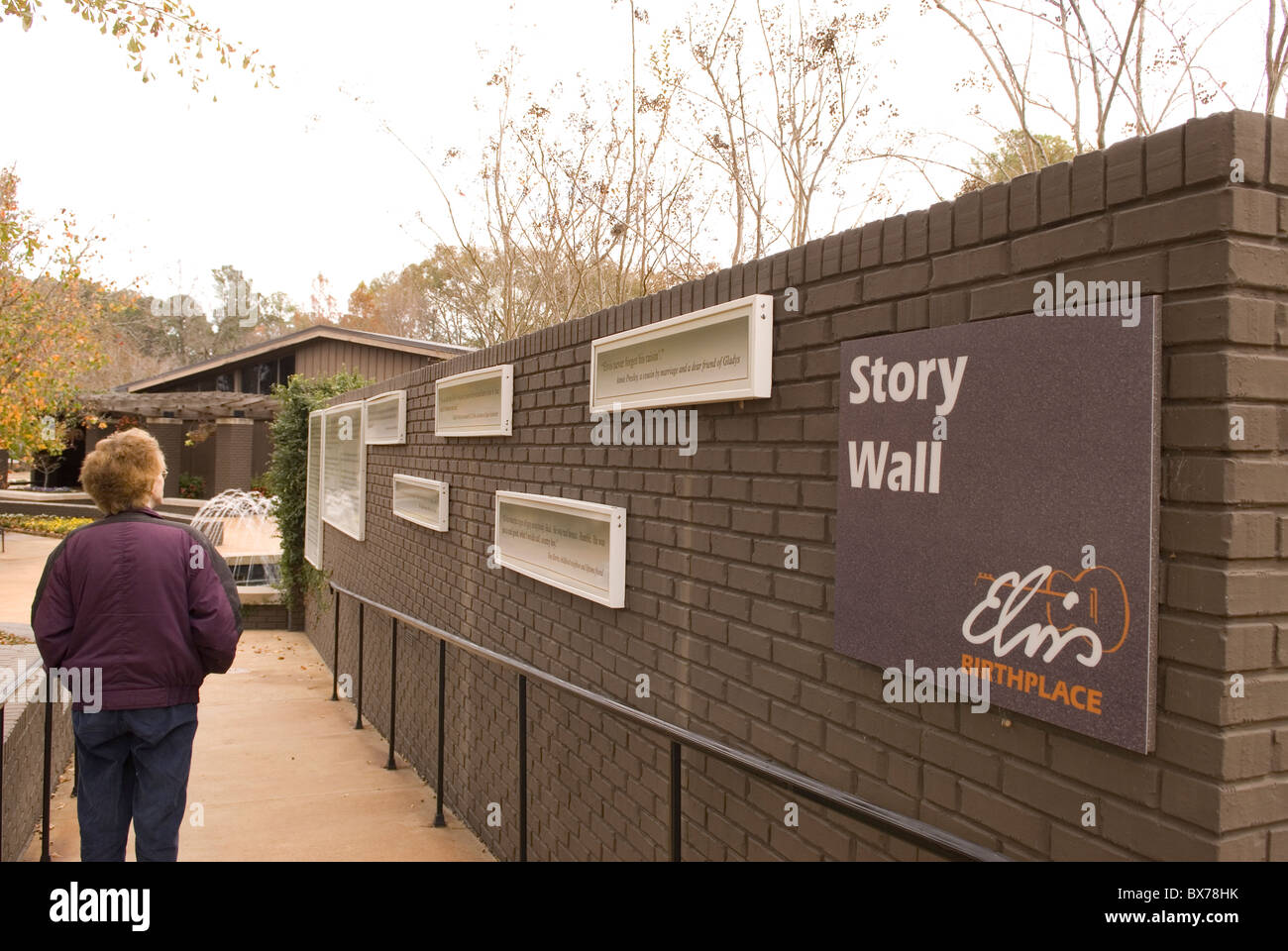 Elvis Presley Birthplace Museum and Chapel Tupelo Mississippi USA - Stock Image