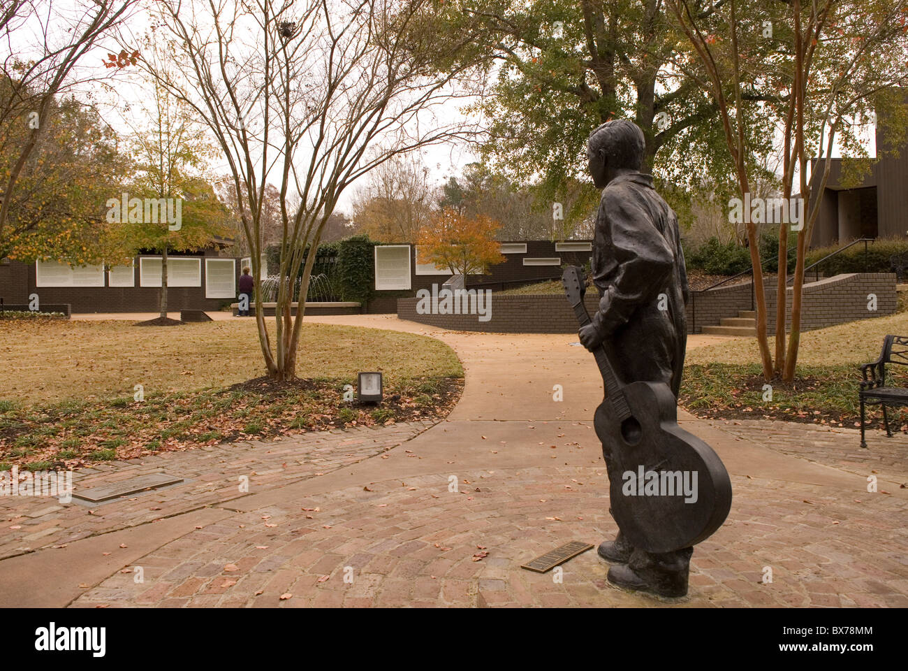 Elvis Statue at Birthplace Tupelo Mississippi USA - Stock Image