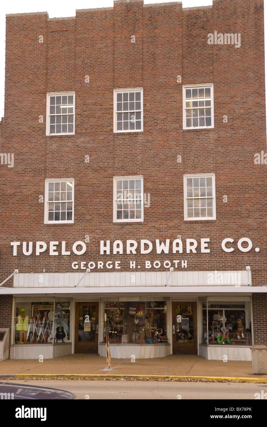 Tupelo Hardware Company Mississippi USA - Stock Image