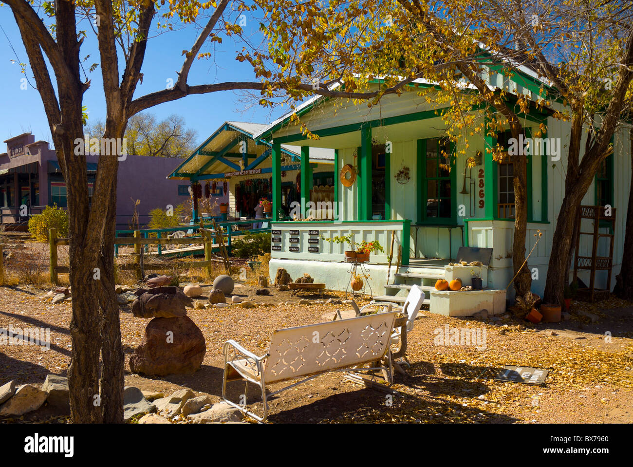Wild Hogs film location, Madrid, Turquoise Trail, New Mexico, United States of America, North America - Stock Image
