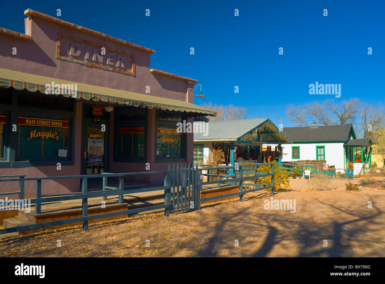 Diner used in Wild Hogs movie, Madrid, Turquoise Trail, New Mexico, United States of America, North America - Stock Image