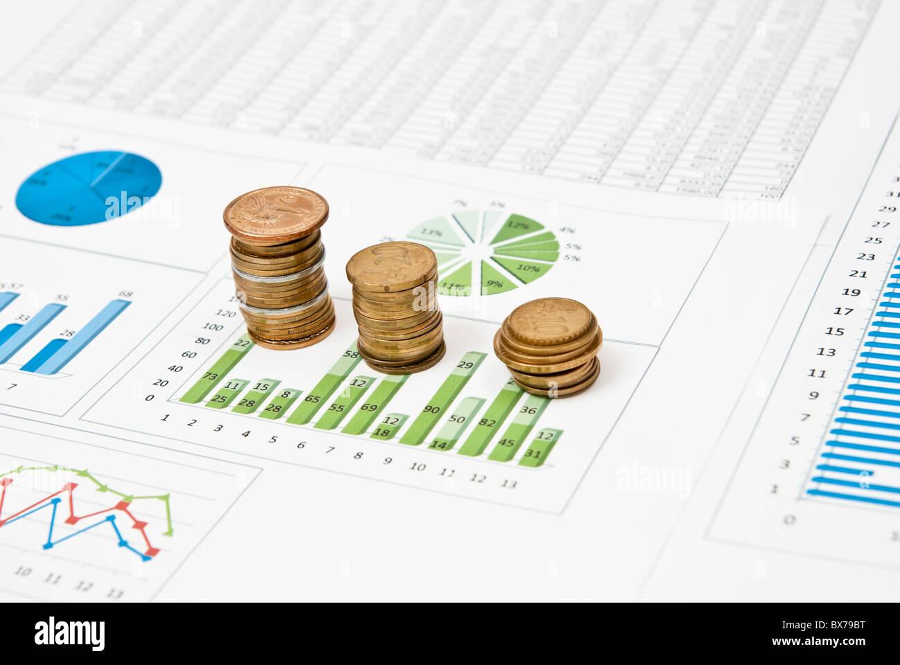 profit statistics - Stock Image