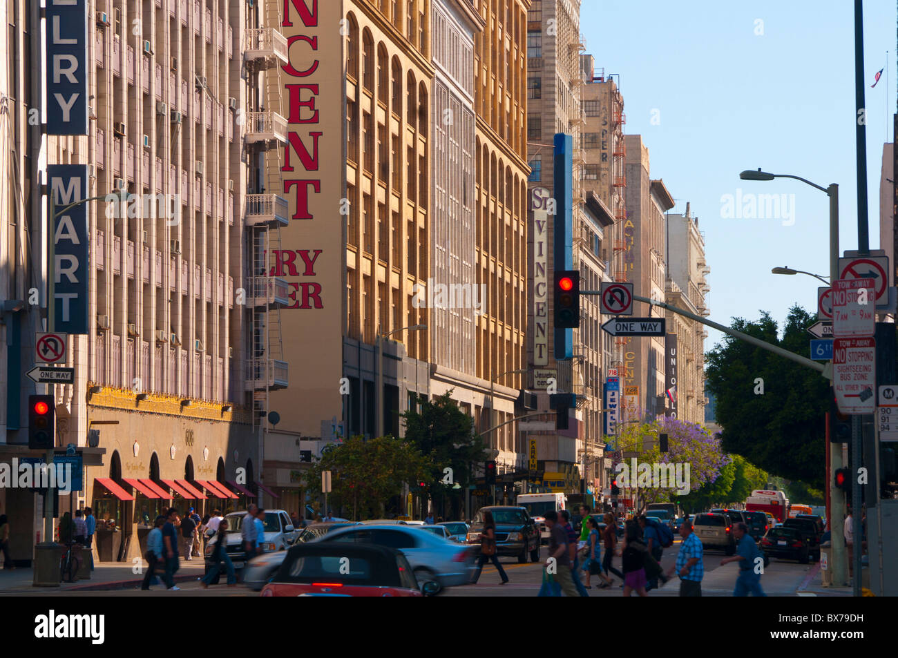 Downtown, Jewelry Quarter, Los Angeles, California, United States of America, North America - Stock Image