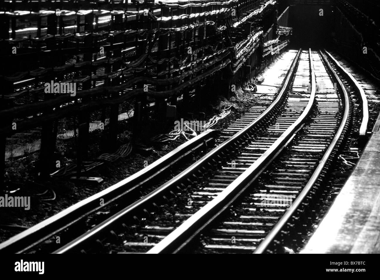 Rail tracks - Stock Image