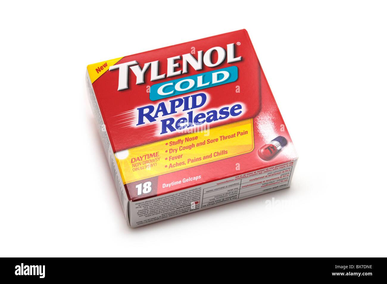 Cold Symptoms Relief Capsules - Stock Image