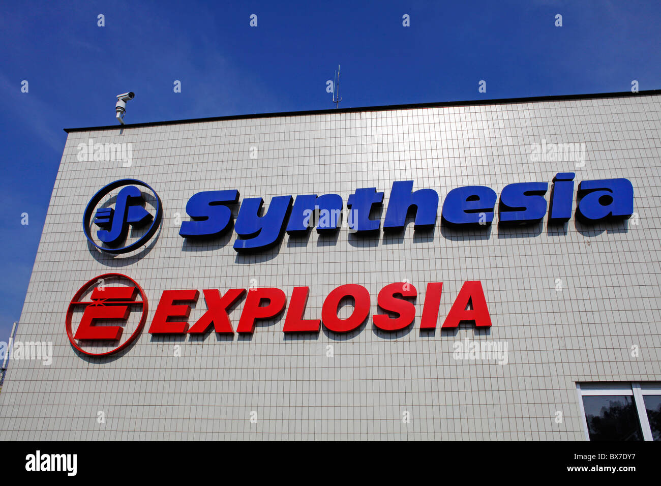 Synthesia, Explosia, chemical facility, explosives, - Stock Image