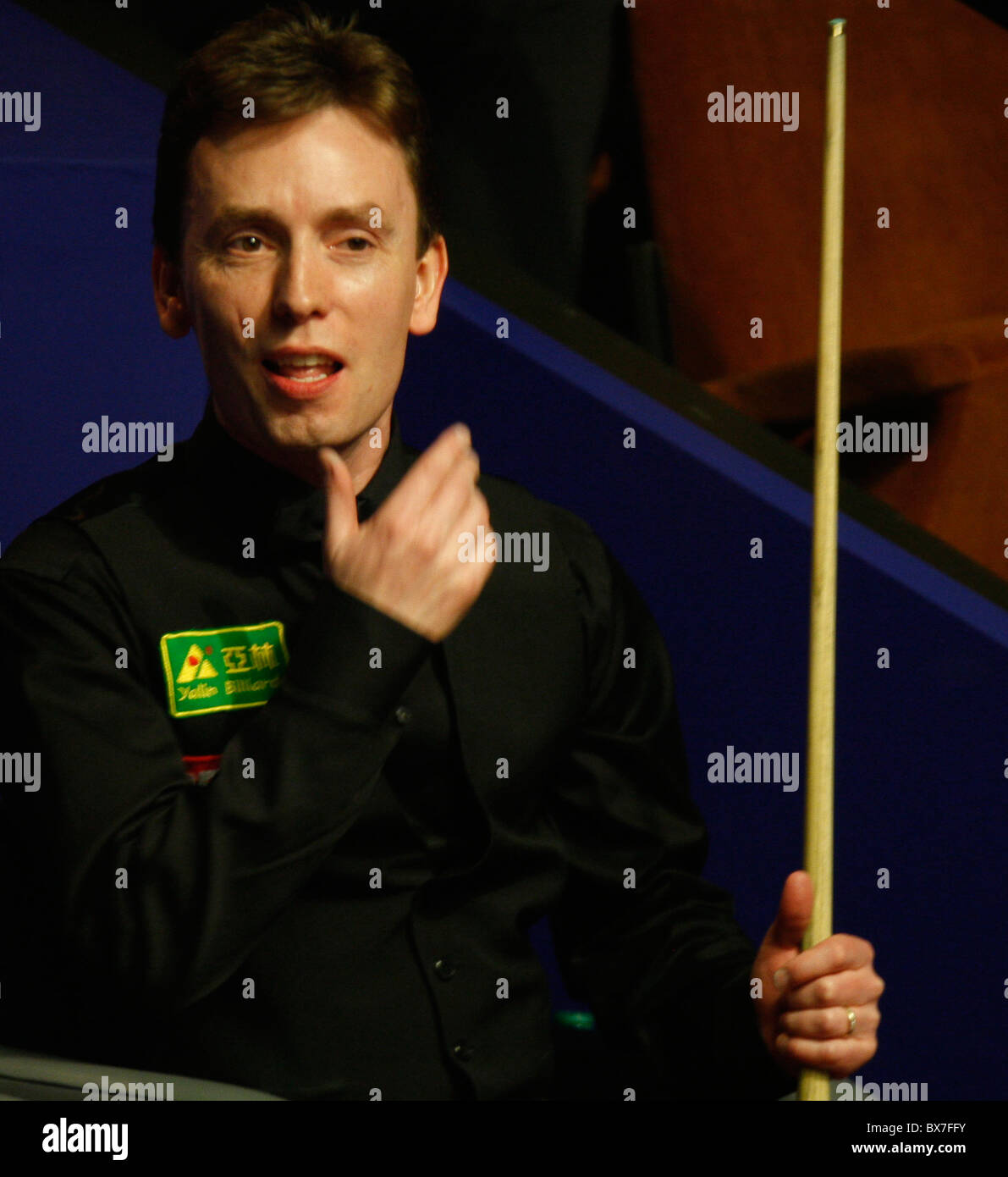 Ken Doherty of Ireland (in Pic) in action against Mark Selby of England, during the  Betfred World Snooker Champs - Stock Image