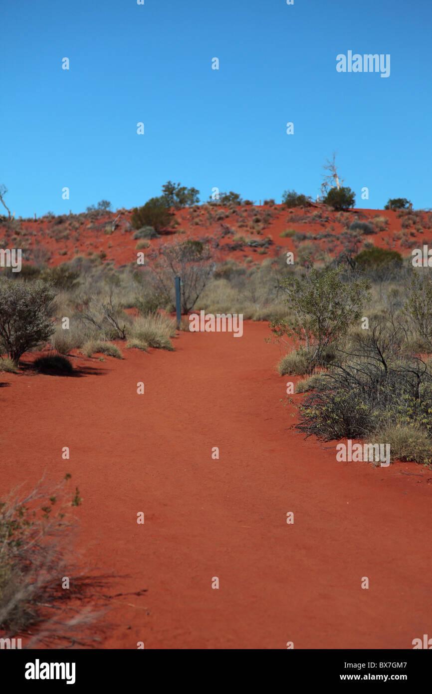 Central Australian desert landscape - Stock Image
