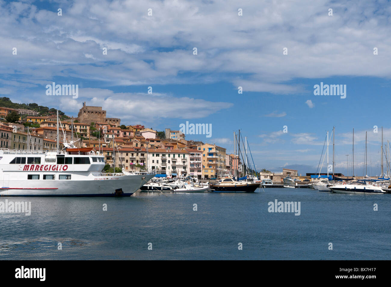 Porto Sante Stefano, Monte Argentario, Tuscany, Italy - Stock Image