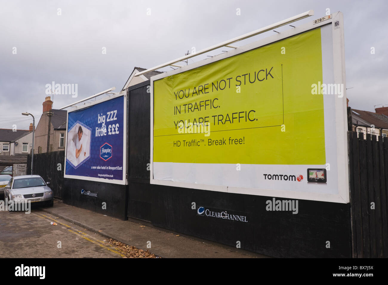 ClearChannel billboard site featuring advertising posters