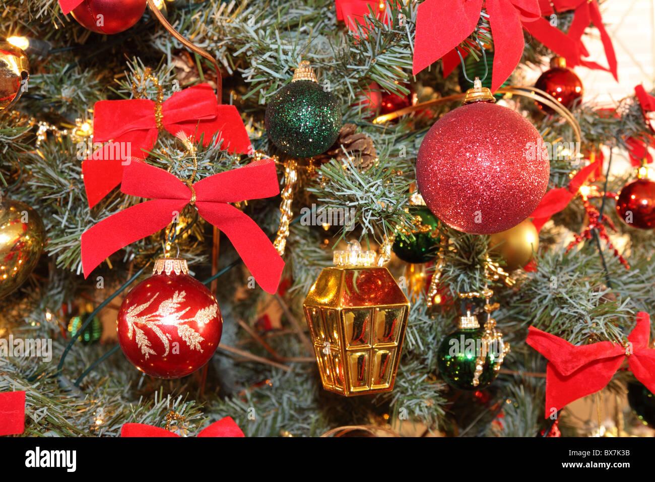 Christmas Tree Decorations - Stock Image