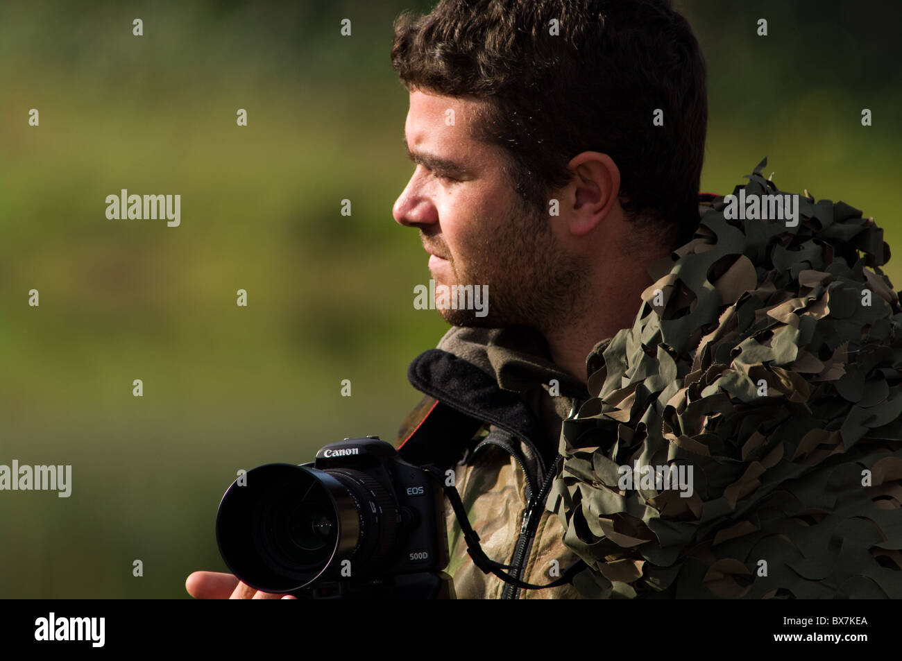 canon birdwatcher wildlife photographer - Stock Image