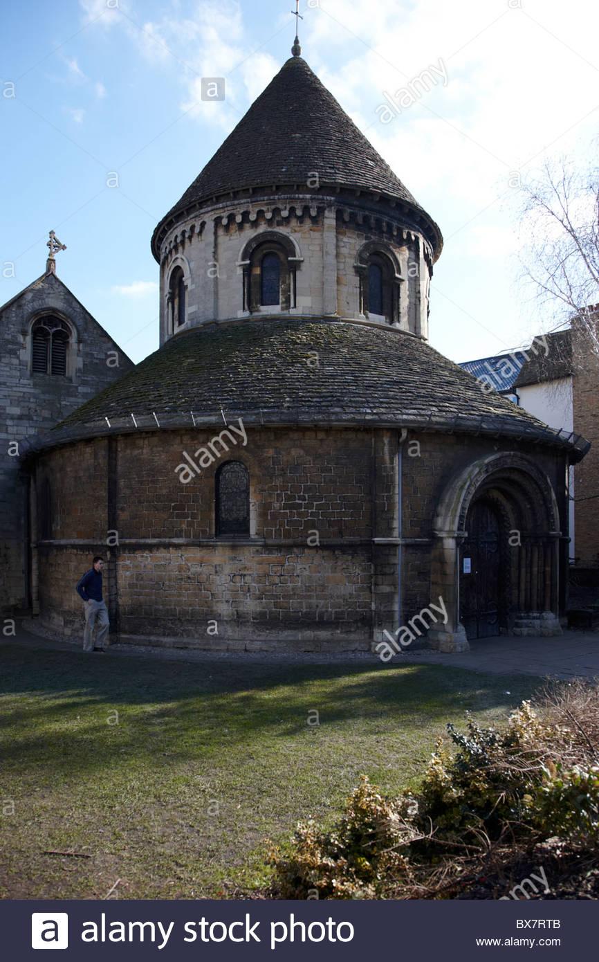 Church of Holy Sepulchre, 1130 Round Church , Cambridge - Stock Image