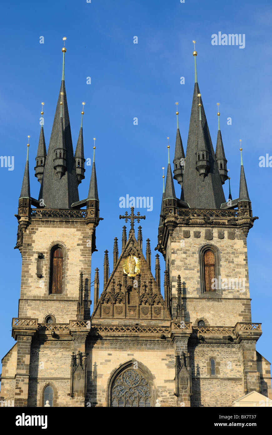 Tyn Cathedral in Prague, Czech Republic. - Stock Image