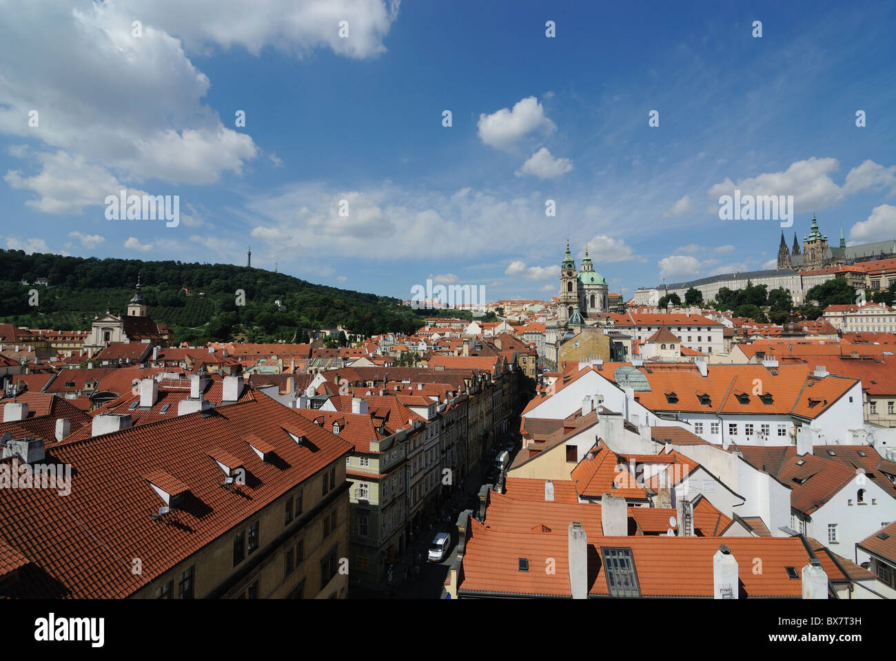 Aerial View of Prague, Czech Republic. - Stock Image