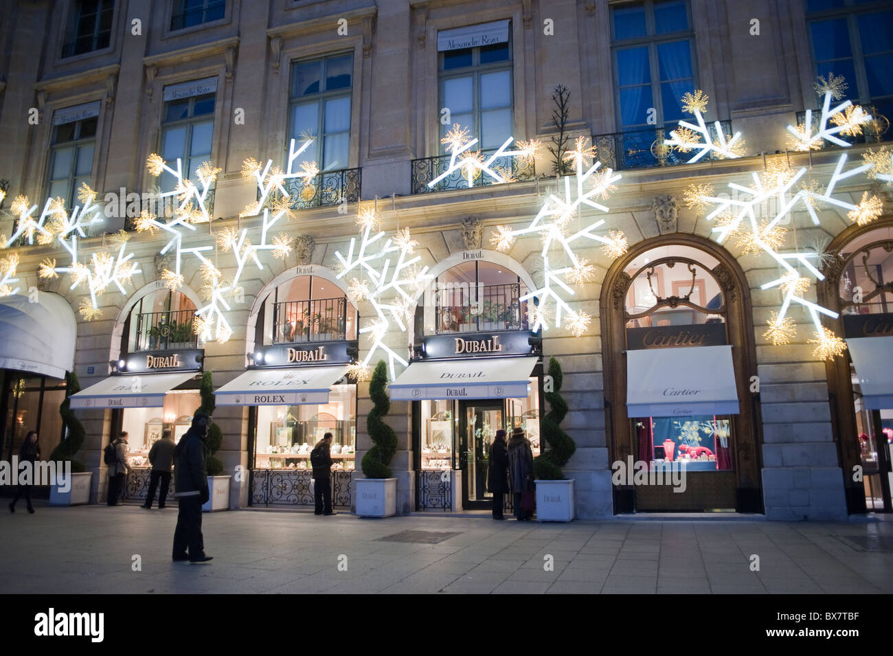 paris france luxury christmas lights shopping dubail jewelry shop front