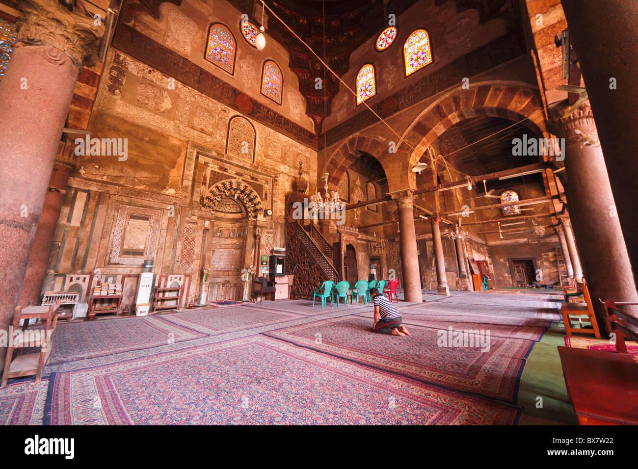 qibla prayer hall, mosque of al-Maridani, Cairo, Egypt - Stock Image
