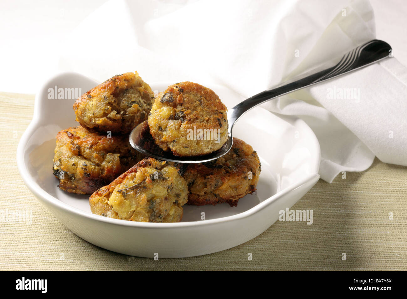 Sage and onion stuffing balls - Stock Image
